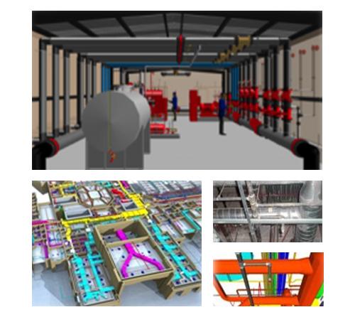 3D喷淋、泡沫及气体灭火系统设计